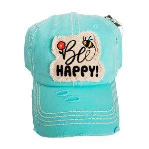 🐝 Bee Happy Distressed Hat